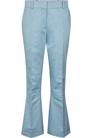 Marni Damen Weite Hosen - Hose aus Baumwolle und Leinen