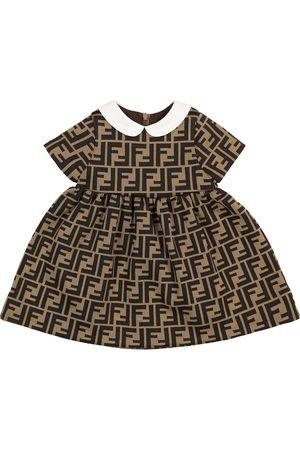 Fendi Baby Kleid FF aus einem Baumwollgemisch
