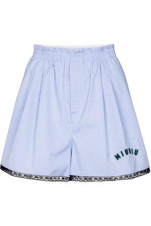 Miu Miu Shorts aus Baumwolle mit Spitze