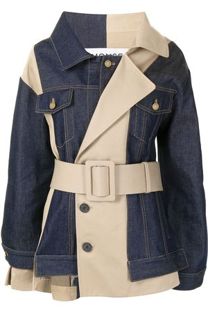 MONSE Reconstructed denim trench jacket