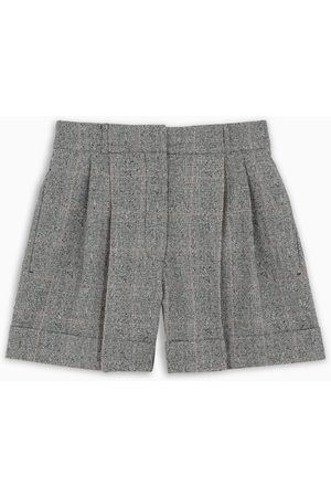 Alexander McQueen Grey/ivory princes of Walles shorts