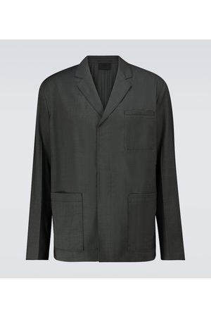 Prada Einreihige Jacke aus Woll-Popeline