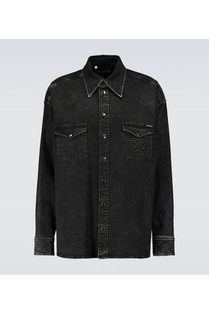 Dolce & Gabbana Hemd aus Stretch-Baumwolle