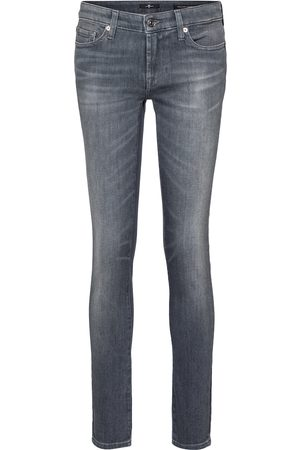 7 for all Mankind Damen Slim - Mid-Rise Jeans Pyper Slim Illusion
