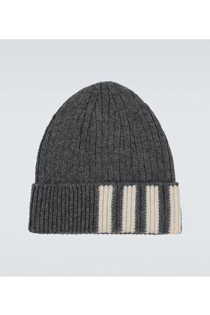 Thom Browne Hüte - Gestreifte Mütze aus Kaschmir