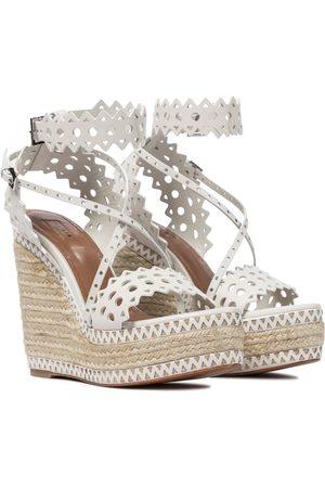 Alaïa Wedge-Sandalen aus Leder