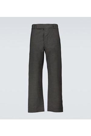 Prada Hose mit weitem Bein aus Wolle