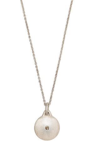 PARTS OF FOUR Disk Halskette mit einem Diamanten - Metallisch