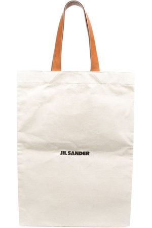 Jil Sander Maxi-Shopper mit Logo - Nude