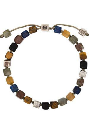 M. COHEN Sterlingsilber-Armband mit eckigen Perlen