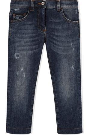 Dolce & Gabbana Distressed skinny-fit jeans