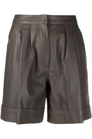DESA 1972 High-rise leather shorts
