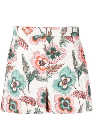 Salvatore Ferragamo Floral-print quilted shorts