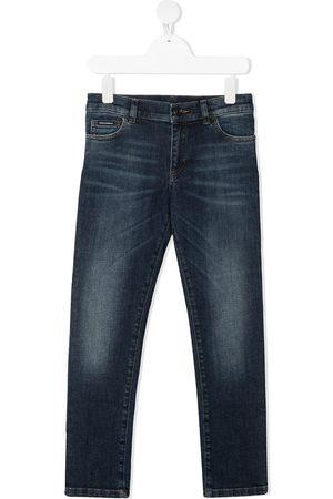 Dolce & Gabbana Slim-Fit-Jeans mit Tragefalten