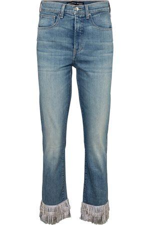 VERONICA BEARD High-Rise Straight Jeans Ryleigh