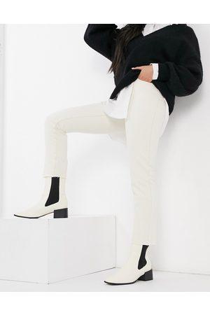 Object Jeans mit geradem Bein in Ecru, Kombiteil-Cremeweiß