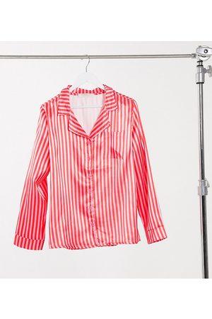 Outrageous Fortune Schlafanzug-Hemd mit Streifen-Print in Rosa-Mehrfarbig