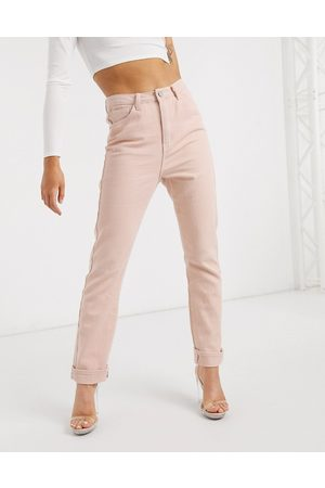 Missguided – Mom-Jeans in Zartrosa