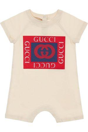 Gucci Strampler Aus Baumwolljersey Mit Logo