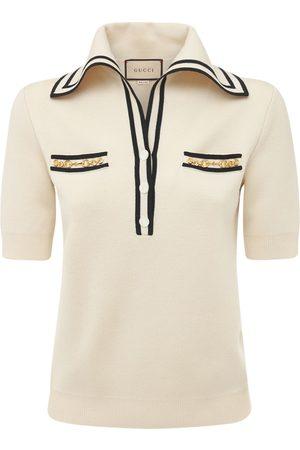 Gucci Polohemd Aus Wolljacquard Mit Logo