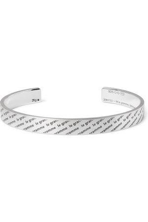 Le Gramme Herren Armbänder - Le 21 Logo-Engraved Brushed Sterling Cuff