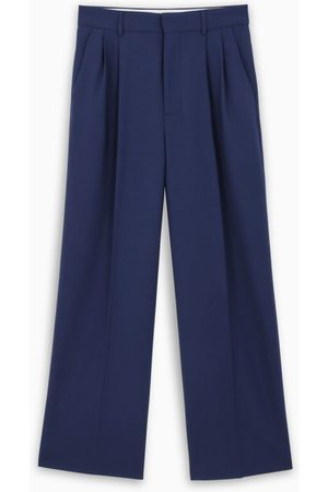 Marni Blue pleated baggy trousers