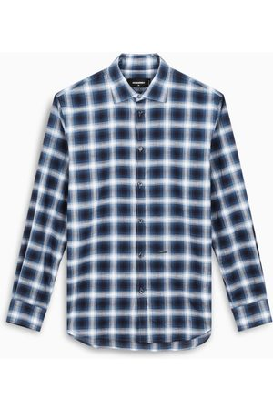 Dsquared2 Blue/white Relaxed Dan check shirt