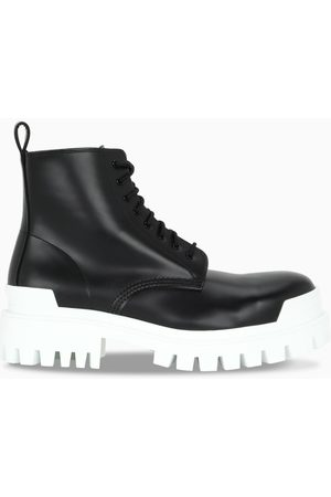 Balenciaga Herren Stiefel - Black/white Strike lace-up boots
