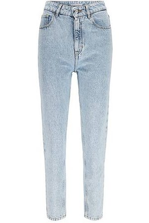 HUGO BOSS Damen Tapered - Relaxed-Fit Jeans aus gebleichtem Baumwoll-Denim