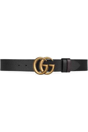 Gucci Wendbarer Gürtel aus Leder mit Doppel G Schnalle