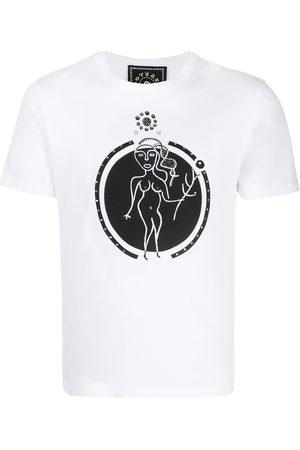 10 CORSO COMO T-Shirt mit Jungfrau-Print