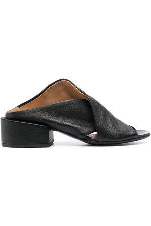 MARSÈLL Open-toe low-heel pumps