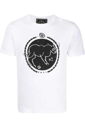 10 CORSO COMO T-Shirt mit Stier-Print