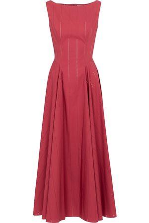 Alaïa Damen Lange Kleider - Maxikleid aus Baumwolle