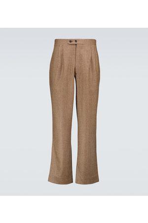 BODE Stoffhosen - Hose aus Wolle mit Hahnentrittmuster