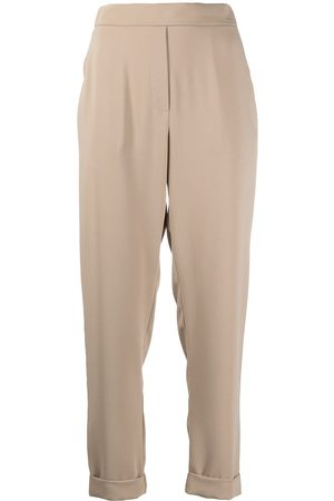 P.a.r.o.s.h. Rolled-hem trousers - Nude