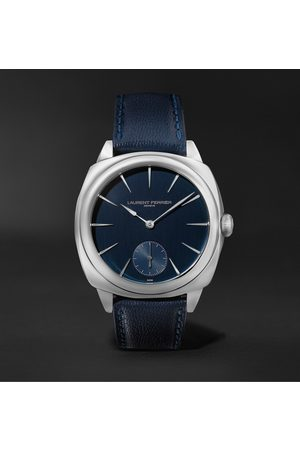 Laurent Ferrier Herren Uhren - Square Automatic 41mm Stainless Steel and Leather Watch, Ref. No. LCF013.AC.CG2.1