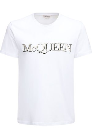 Alexander McQueen T-shirt Aus Baumwolle Mit Logodruck