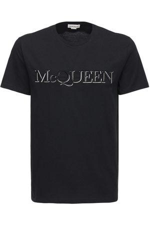 Alexander McQueen Herren Shirts - T-shirt Aus Baumwolle Mit Logodruck