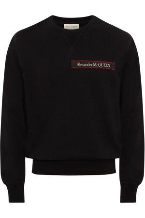 Alexander McQueen Sweatshirt Aus Baumwolle Mit Logoband