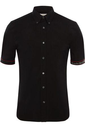Alexander McQueen Herren Hemden - Hemd Aus Stretch-baumwolle Mit Logo