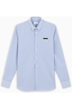 Prada Light blue striped shirt