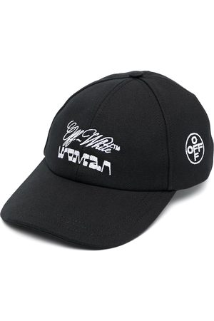 OFF-WHITE CANVAS BASEBALL CAP BLACK WHITE