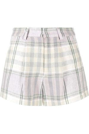 Isabel Marant Shorts mit Check - Lila