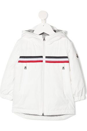 Moncler Stripe-embroidered zip-up jacket
