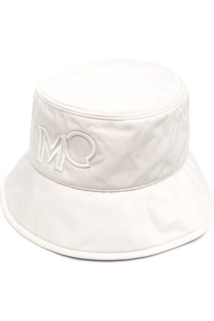 Moncler Logo embroidered bucket hat - Nude