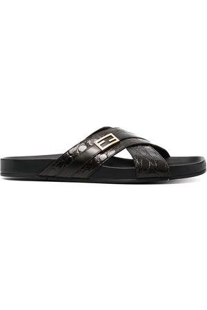 Fendi Herren Sandalen - Sandalen mit überkreuzten Riemen