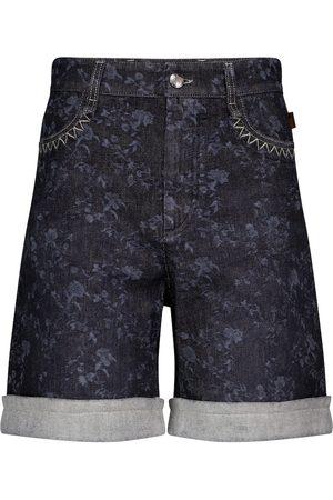 Chloé Damen Shorts - Bedruckte High-Rise Jeansshorts