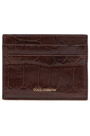 Dolce & Gabbana Kartenetui aus Alligatorleder