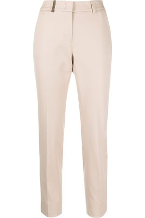 PESERICO SIGN Cropped leg trousers - Nude